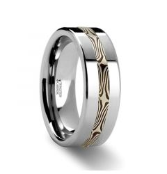 HALVAR Custom Mokume Gane Tungsten Ring