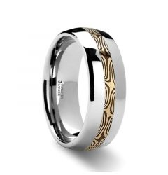 SAMSON Mokume Inlaid Tungsten Carbide Ring - 6mm & 8mm