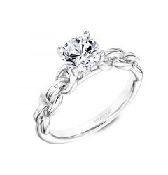 Solitaire Engagement Ring With Link Design On The Setting By Scott Kay