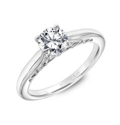Solitaire Engagement Ring with Milgrained Arches In The Gallery By Scott Kay