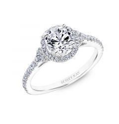 Ladies Engagement Ring Halo Mounting From The Luminaire Collection By Scott Kay