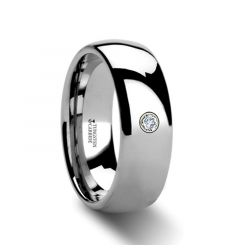 BERKSHIRE Domed Diamond Tungsten Ring 4mm - 8mm
