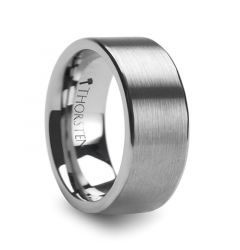 MERCURY Flat Brush Finish Tungsten Wedding Ring - 10mm