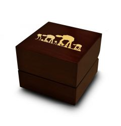 Star Wars Hoth Battle Print Engraved Wood Ring Box Chocolate Dark Wood Personalized Wooden Wedding Ring Box