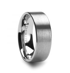 MERCURY Flat Brushed Finish Tungsten Wedding Ring - 4mm - 12mm