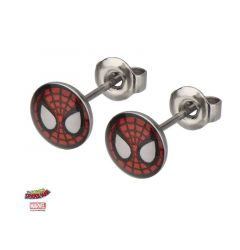 Marvel 18g Stainless Steel Spider-Man Mask Stud Earrings