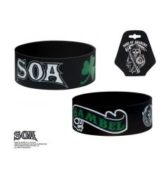 "Sons of Anarchy Green ""Sambel"" Silicone Bracelet"