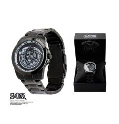 Sons of Anarchy IP Black Skull Design Stainless Steel Water Resistant Watch