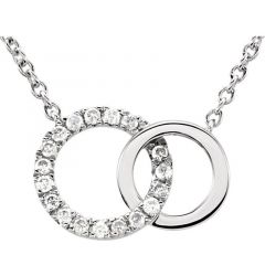 "14kt White Gold .06 CTW Diamond Circle 18"" Necklace"