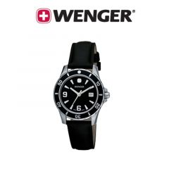 Wenger® Ladies Sport Black Dial Leather Watch