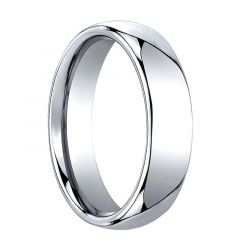 TIRO Domed Cobalt Chrome Wedding Band by Benchmark - 6mm