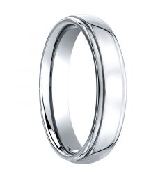 GREGARIUS Raised Domed Center Cobalt Chrome Ring by Benchmark - 5mm & 7mm