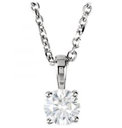 "14kt White Gold 1/4 CTW Diamond 18"" Necklace"