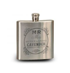 6 Oz. Personalized Stainless Steel Engraved Flask