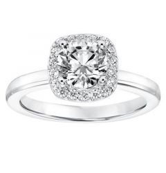 PASHA Halo Diamond Engagement Ring Accents