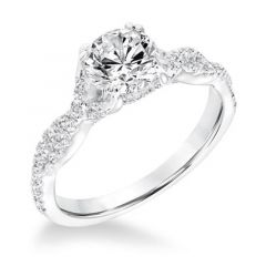 ADORE Twisted Diamond Engagement Ring Diamond Studded Band