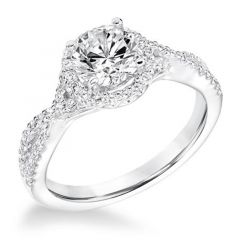 TERRA Halo Diamond Engagement Ring Split Infinity Band