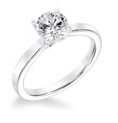 LUNA Solitaire Engagement Ring Flat Band