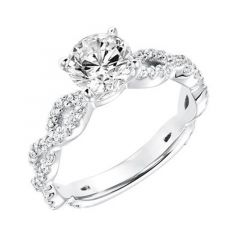 CALYPSO Infinity Diamond Engagement Ring Diamond Studded Band