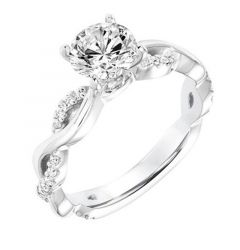 SELENE Infinity Diamond Engagement Ring Twisted Diamond Studded Band