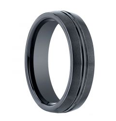 REMUS Domed Center Groove Black Ceramic Ring by Benchmark - 6mm