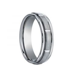 KRANOS Raised Center Titanium Wedding Band by Benchmark - 6mm