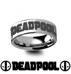 Deadpool Title Mercenary Super Hero Movie Tungsten Engraved Ring Jewelry - 4mm - 12mm
