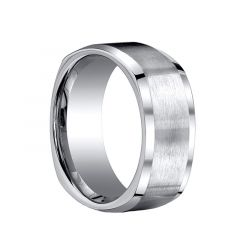 CONRAD Brushed Center Square Titanium Wedding Ring by Benchmark - 9mm