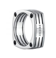 BARBOSSA Square Titanium Wedding Band with Screws by Benchmark - 7.5mm