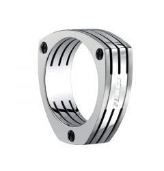 MAXIMILIAN Triangle Titanium Wedding Band with Screws by Benchmark - 7.5mm