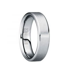 FESTUS Tungsten Band with Brushed Center & Polished Edges by Crown Ring - 6mm & 8mm