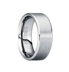 IOVIANUS Tungsten Carbide Wedding Band with Brushed Matte Center & Polished Edges by Crown Ring - 6mm & 8mm
