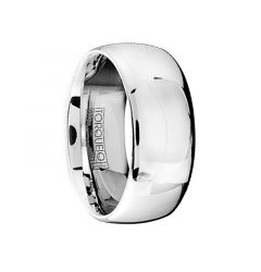 Domed Polished Comfort-Fit Cobalt Men's Wedding Band by Crown Ring - 9mm