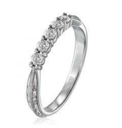 14kt White Gold Ladies Wedding Ring From the Luminaire Collection by Scott Kay