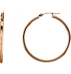 14k Rose Gold 2mm Beautiful Hoop Earrings