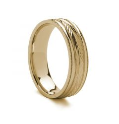 Carved Gold Ring - 14k