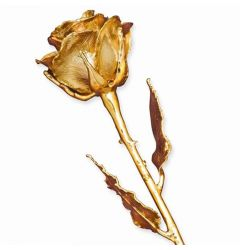 24k Gold Dipped Rose with Lustrous Lacquer Finish