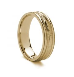 Carved Gold Ring - 18k