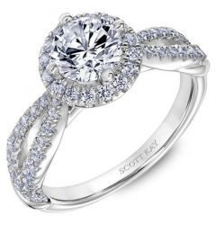 14kt White Gold Beauty Ladies Engagement Ring by Scott Kay