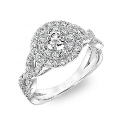 ELLA Diamond Cluster Halo and Diamond Twist Ring 1.00 cttw