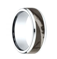 CHADWICK Comfort Fit Cobalt Ring with Tree Camo Inlay by Benchmark - 8mm