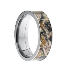 HUNTER Flat Titanium Ring with Real Tree Camo Inlay by Lashbrook Designs - 7mm