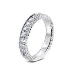 14kt White Gold (H/SI) Ladies Wedding Band by Scott Kay