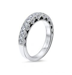 14kt White Gold (H/SI) Ladies Wedding Band From the Heaven's Gates Collection by Scott Kay