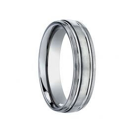 Thorsten Carver Titanium Rings for Men 8 mm Black Titanium Brushed Finish Men/'s Wedding Ring with Polished Dual Offset Grooves Comfort Fit Lightweight Titanium