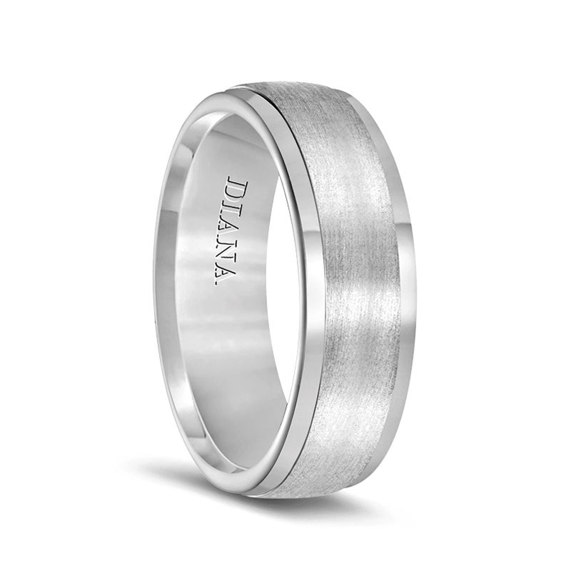 Ultimate Metals Co 7MM High Polish//Matte Finish Mens Tungsten Ring Wedding Band