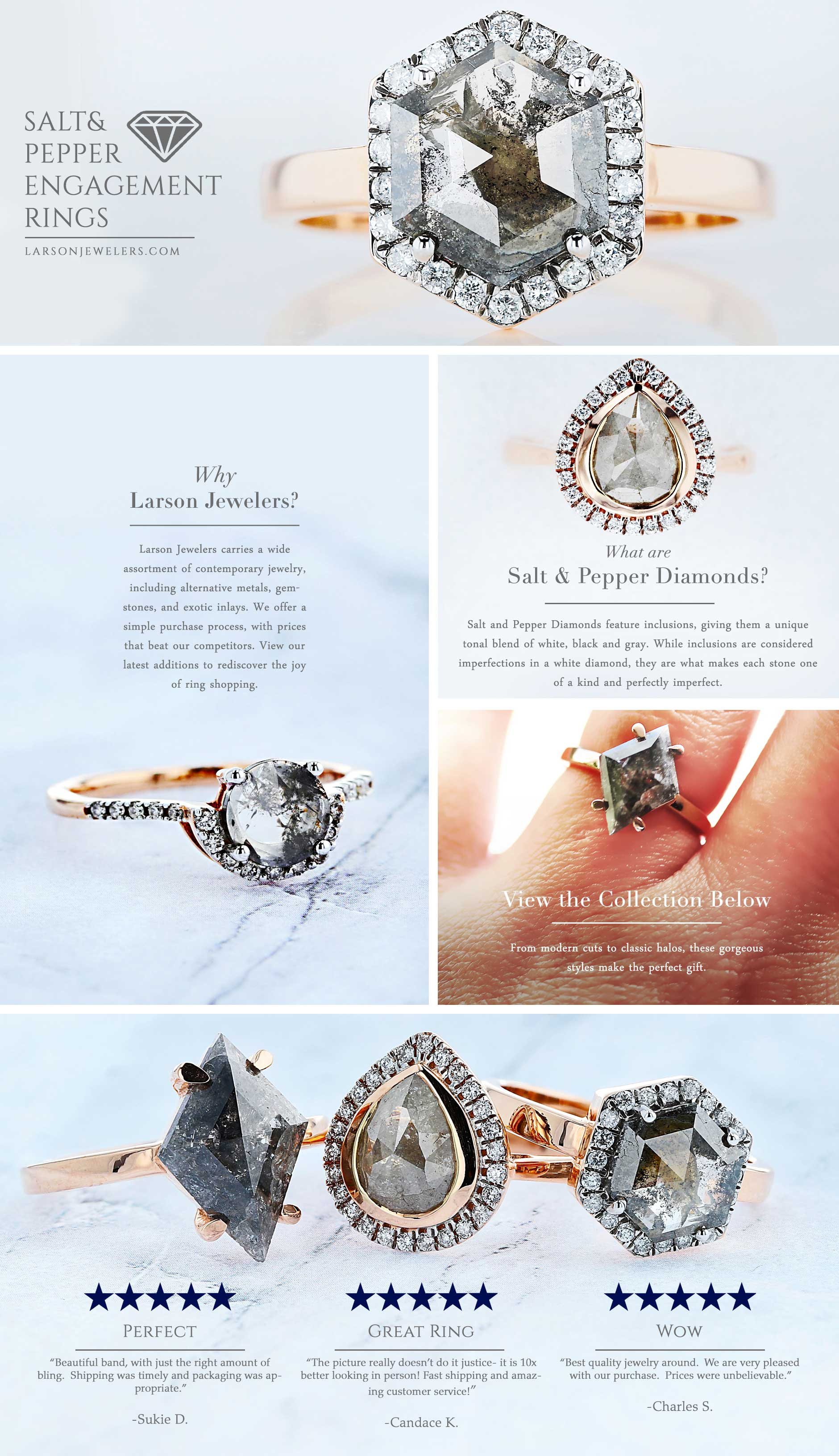 Salt & Pepper Engagement Rings