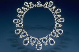 Photo by Cliff (Flickr) Caption: The stunning Hall Sapphire and Diamond Necklace is in the National Museum of History at the Smithsonian in Washington, DC.