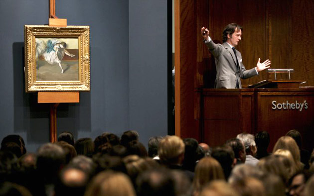 Photo by Ana Ulin (Flickr) Caption: Sotheby's London Auction House