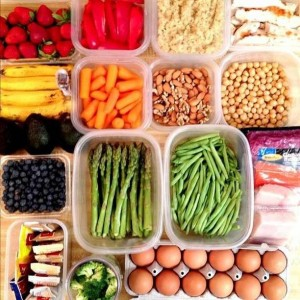 Photo by Arya Ziai (Flickr) Healthy proteins along with fresh fruits and vegetables are the foods that will help get you fit and healthy.